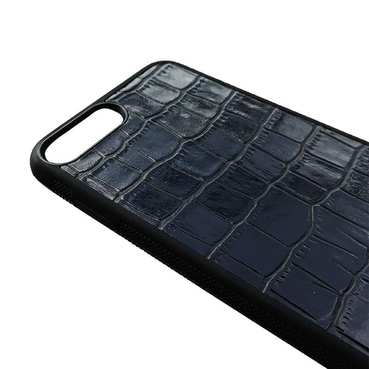 Cover Blu Iphone 7 / 8 in pelle di Coccodrillo - Andrea Morante ®️