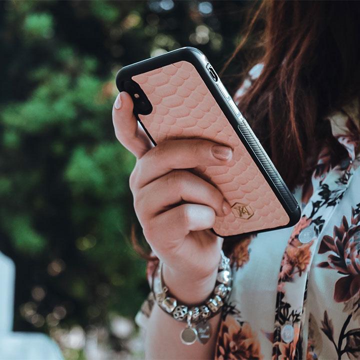 cover iphone in vera pelle di pitone
