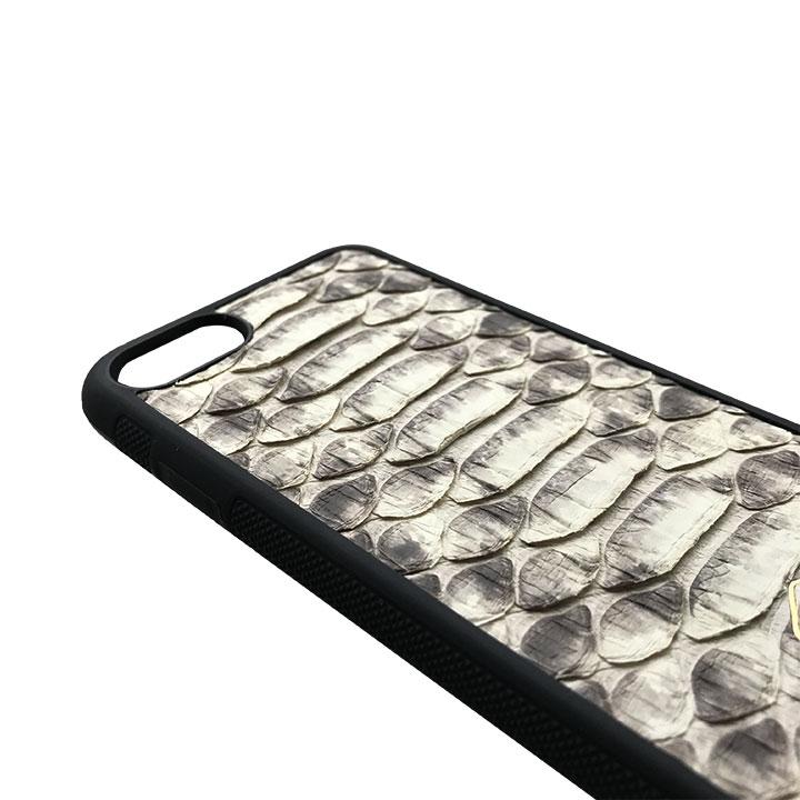 Cover Bianca Iphone X / XS in pelle di Pitone - Andrea Morante ®️