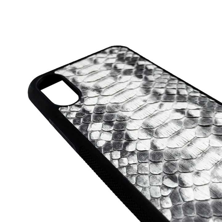 Cover iphone XS Max in pelle di pitone
