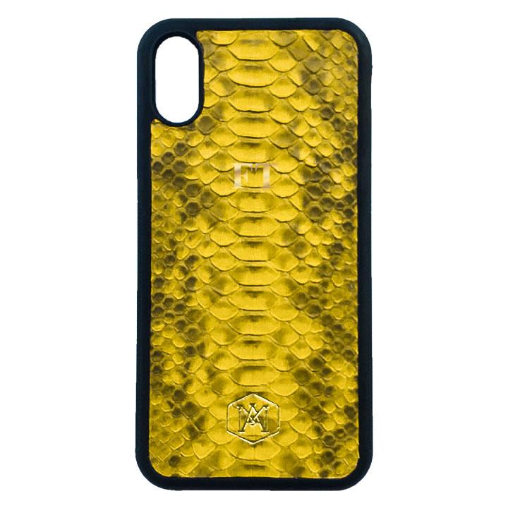 cover personalizzata iphone xs max in pelle di pitone
