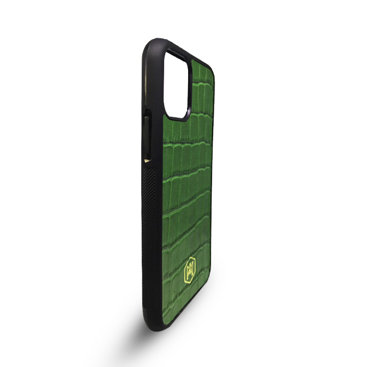 cover verde in vera pelle