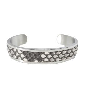 Bracciale argento-e-bianco