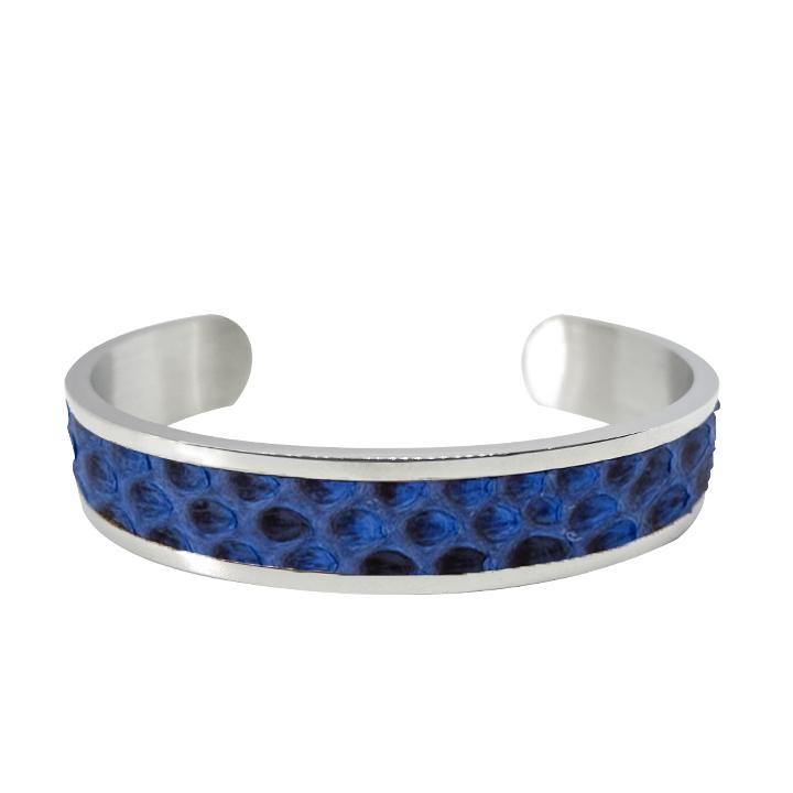 Bracciale argento-e-blu