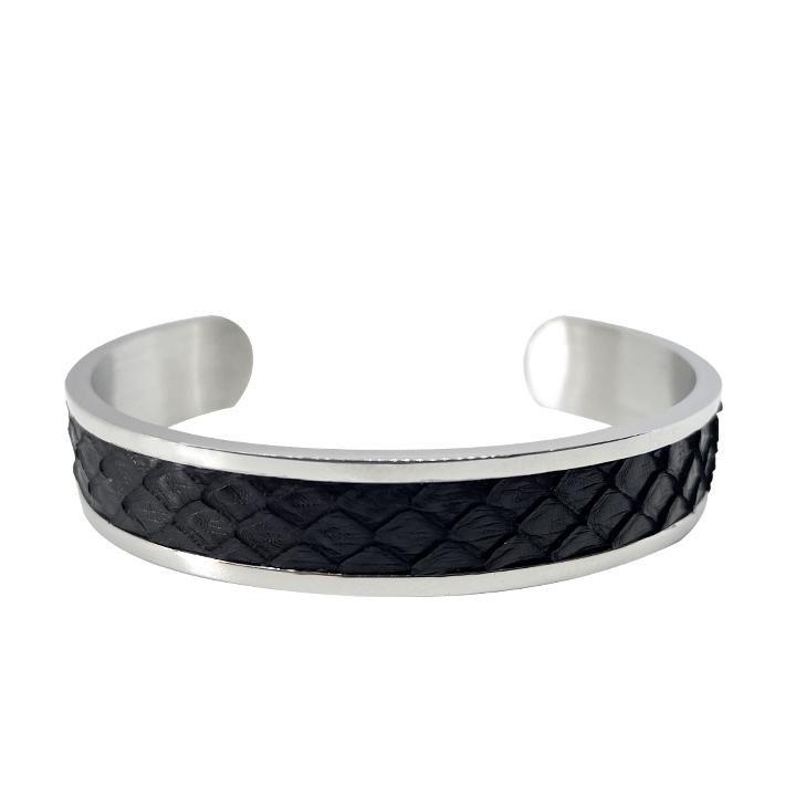 bracciale argento e nero